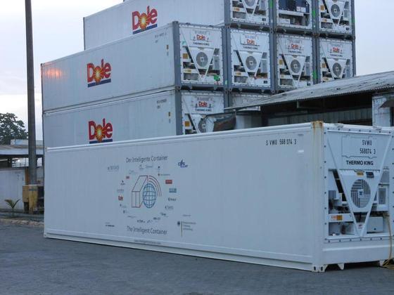 Einen Kühlcontainer mit zahlreichen Sensoren, die Temperatur und Reifegrad von Lebensmitteln überwachen, haben Forscher der Universität Bremen gemeinsam mit Partnern aus der Industrie entwickelt.