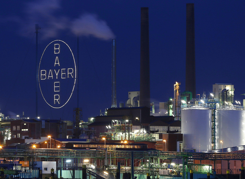 Das Hauptwerk des Bayer-Konzerns in Leverkusen.