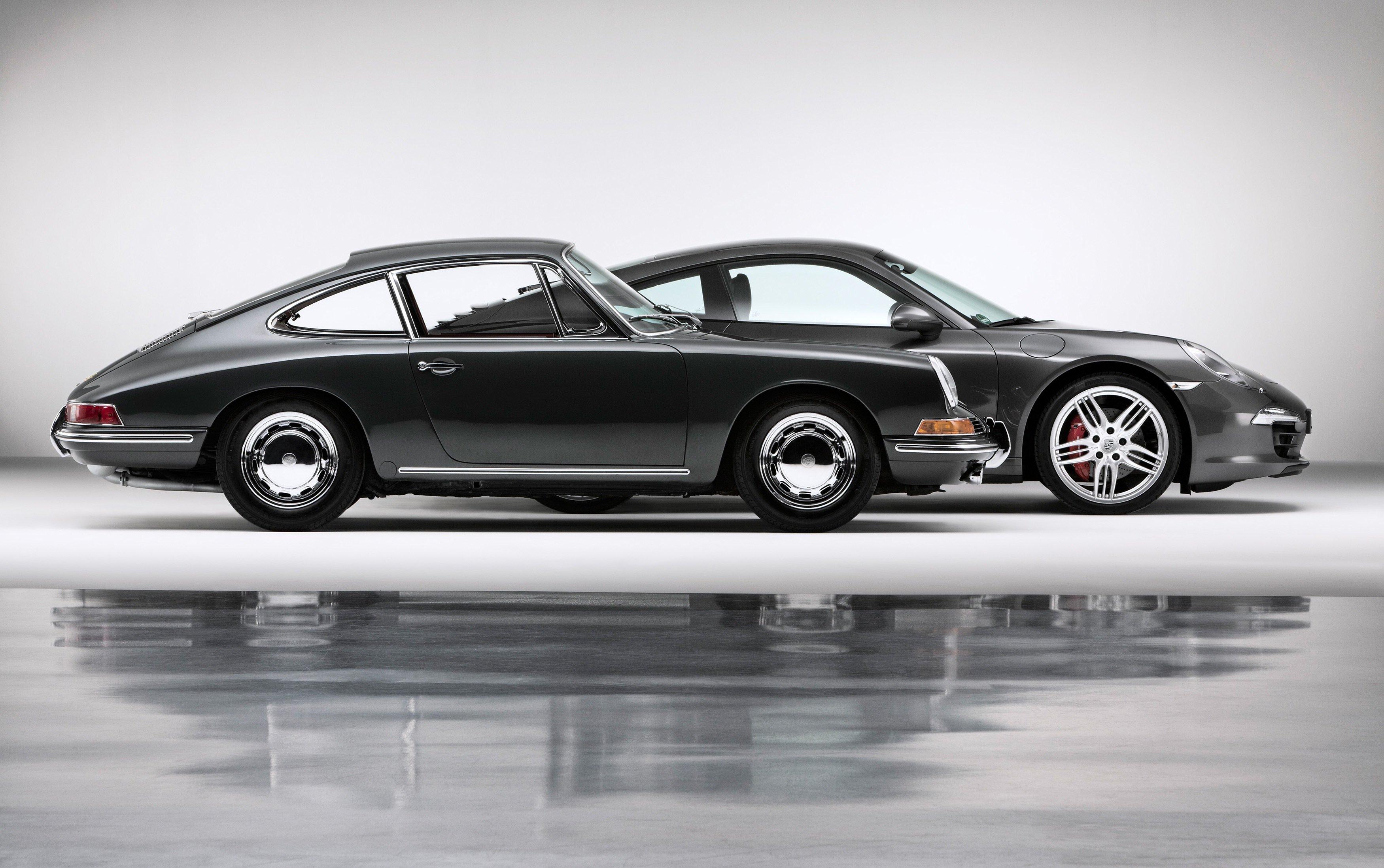Der Ur-911er von 1963 und von heute vereint: Der erfolgreichste Sportwagen der Welt wird 50.