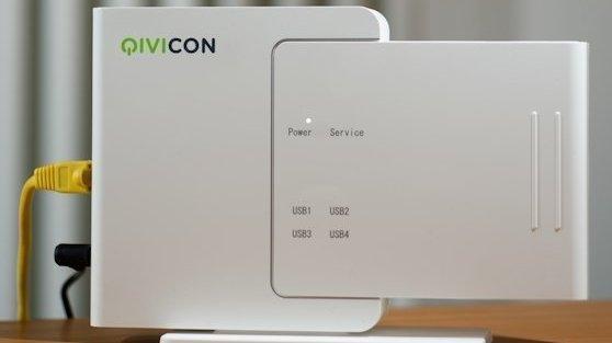 Zentrale des intelligenten Hauses soll nach dem Wunsch der Telekom künftig die Qivicon Home Base sein. Sie kommuniziert per Funk mit den Endgeräten verschiedener Anbieter und per App mit den Bewohnern des Hauses.