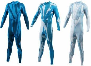 """Im """"Tarnanzug"""", der speziell für Taucher entwickelt wurde, verschwimmen die Konturen des Anzugträgers mit den Hintergrundfarben im Wasser."""