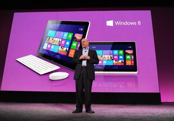 Microsoft-Chef Steve Ballmer Ende Oktober 2012 bei der Vorstellung von Windows 8.
