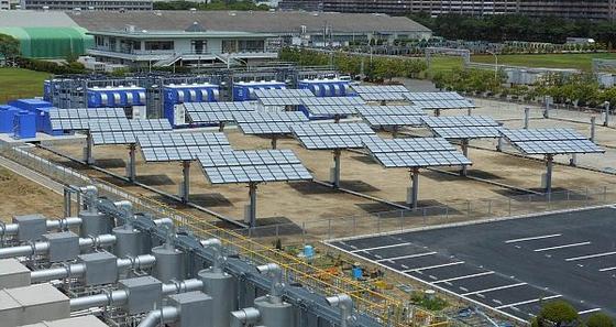 SumitomoElectricIndustries betreibt auf dem Gelände der firmeneigenenYokohamaWorks bereits ein System der Megawatt-Klasse zur Erzeugung/Speicherung von Energie. Es besteht aus der größten Redox-Flow-Zelle der Welt und den größten konzentrierten Photovoltaik-Einheiten Japans.