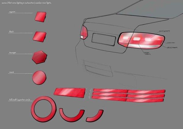 Konkrete Designs für OLED-Anwendungen im Automobil hat Osram bereits in Zusammenarbeit mit UnternehmerTUM, dem Innovations- und Gründungszentrum der Technischen Universität München, erarbeitet.