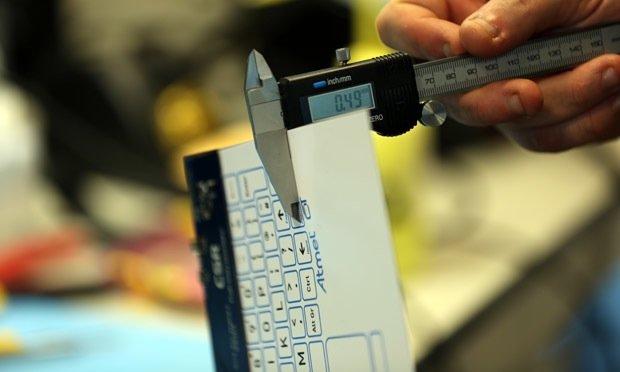 Die Tastatur von CSR wird auf der Internationalen Funkausstellung in Berlin vorgestellt. In einem Jahr soll sie auf den Markt kommen.