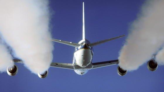 Pazifik-Flüge lassen besonders viel Ozon entstehen.