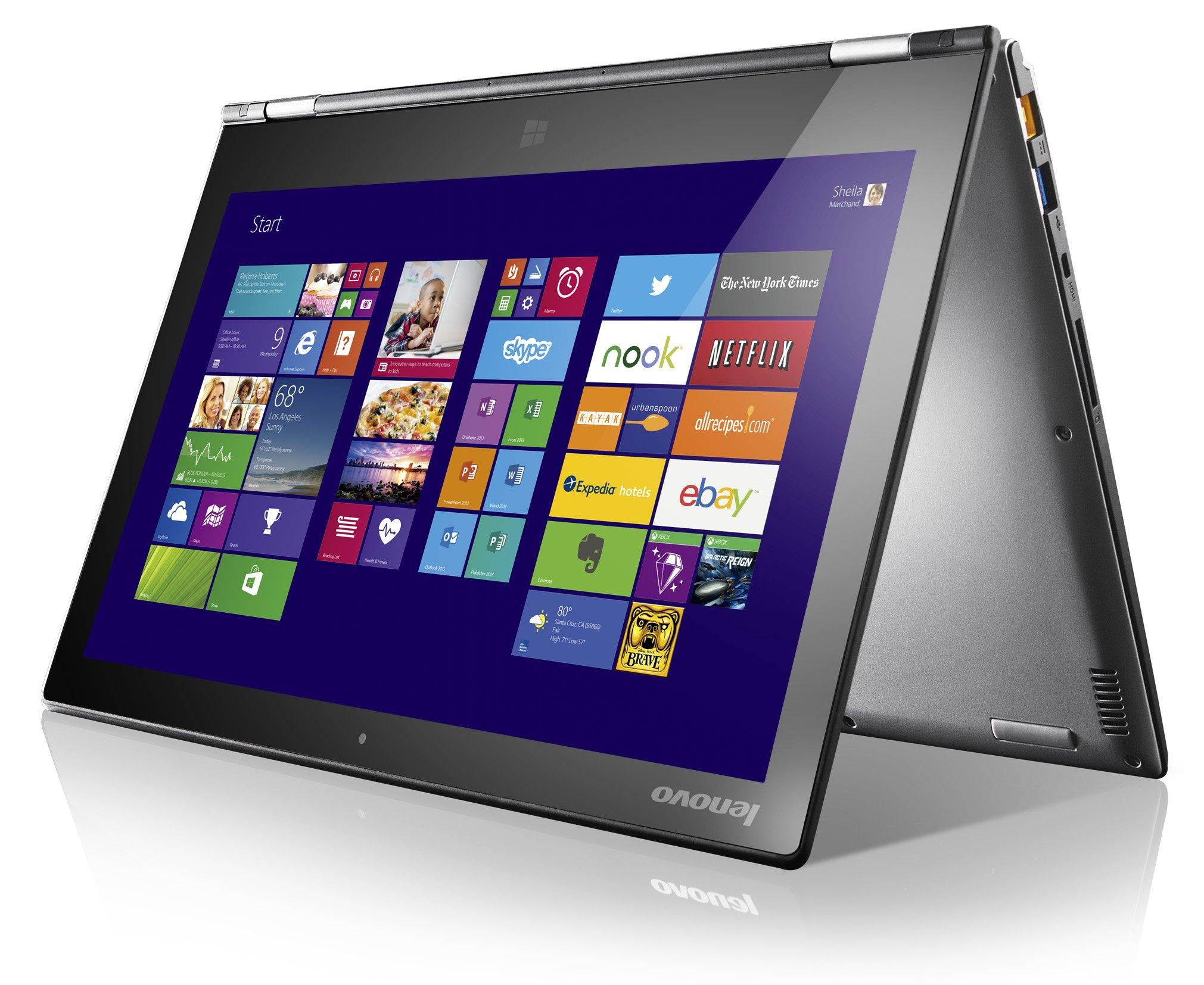 Das neue Yoga 2 von Lenovo hat eine versenkbare Tastatur. Der Nutzer kann wählen, ob er auf dem Touchscreen oder der Tastatur schreiben will.