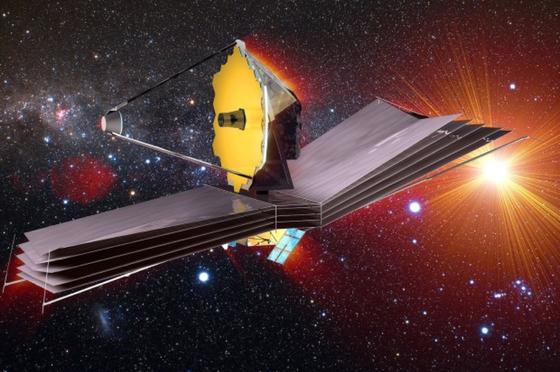 """2018 soll das """"James Webb Space Telescope"""" (JWST) – benannt nach einem früheren NASA-Direktor – ins All gebracht werden. In einer 1,5 Millionen Kilometer von der Erde entfernten Umlaufbahn sollen alle Phasen der Entstehung des Universums von den ersten Lichtstrahlen nach dem Urknall bis zur Bildung der Planetensysteme in unserer Milchstraße erforscht werden."""