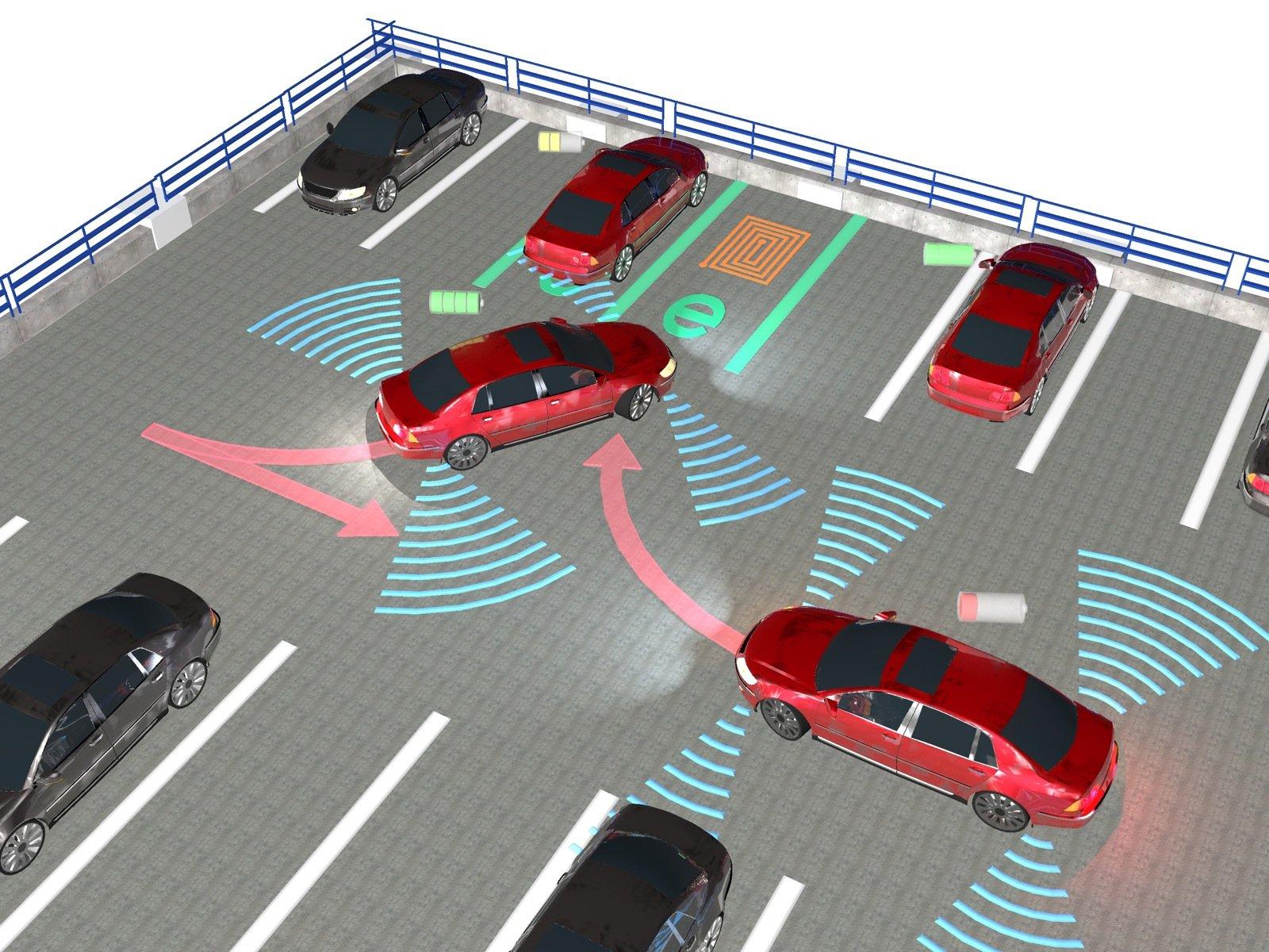 Ein intelligentes Parkhaus organisiert das Laden unterschiedlicher Fahrzeuge.