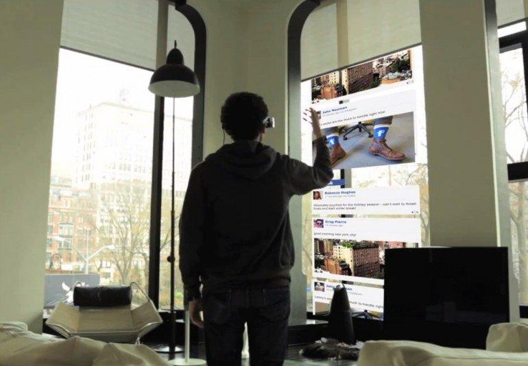 Mit der Datenbrille kann man zum Beispiel Computerprogramme mit Gesten steuern.