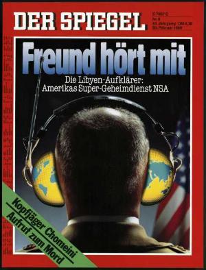 Spiegel-Titel zum Geheimdienst NSA aus dem Jahr 1989.