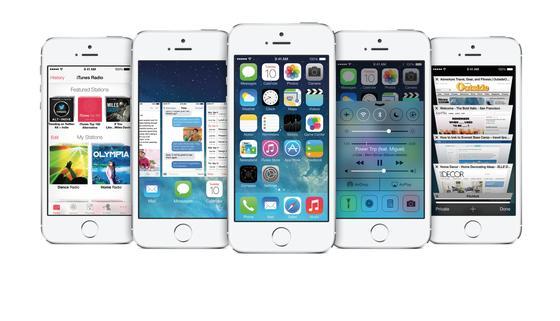 Apple-Geräte mit dem Betriebssystem iOS7: Apple bringt das neue, erheblich überarbeitete Betriebssystem am 18. September auf den Markt.