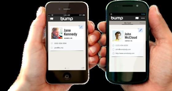 Mit einem kleinen Schubs überträgt Bump drahtlos Daten von einem Handy auf das andere.