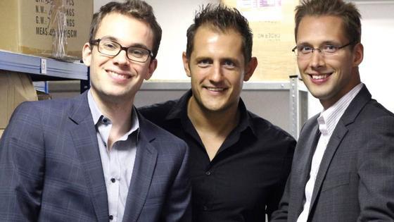 Das Führungsteam von Mediafix (v.l.n.r): Stefan Wickler, Christoph Kind und Hans-Günter Herrmann.