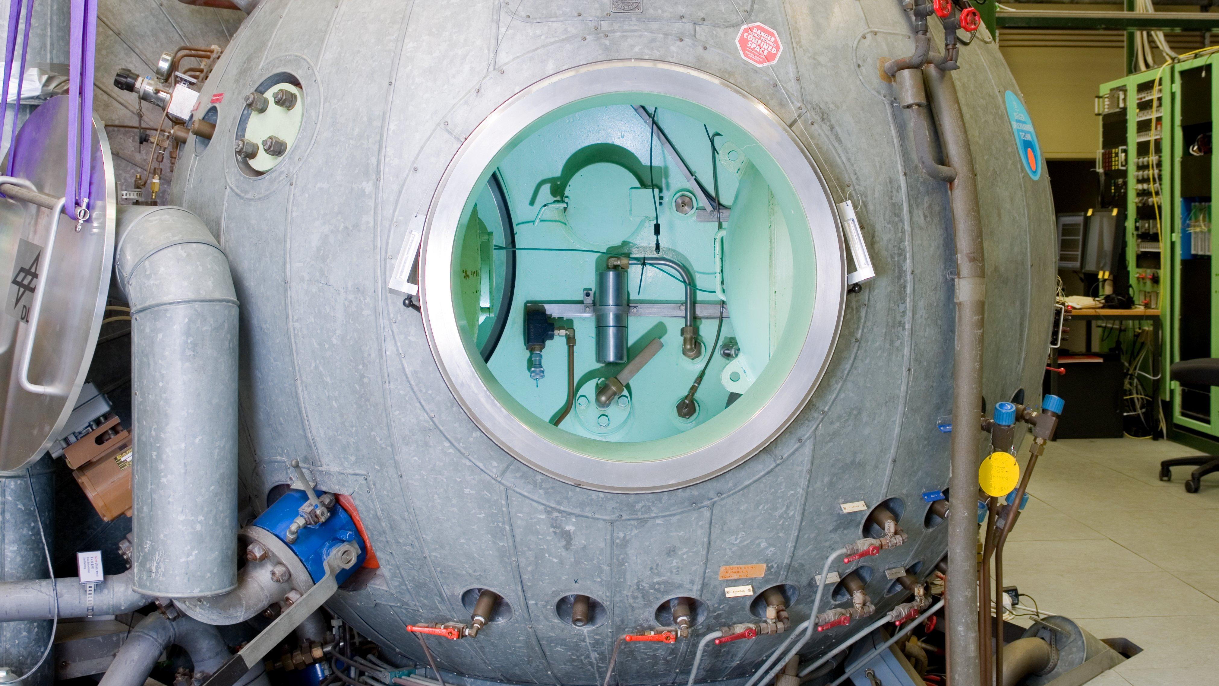Detailaufnahme der Druckkammer.