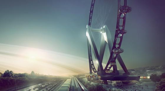 Nippon Moon: So soll das weltgrößte Riesenrad nach Plänen des niederländischen Design-Teams von UNStudio aussehen.