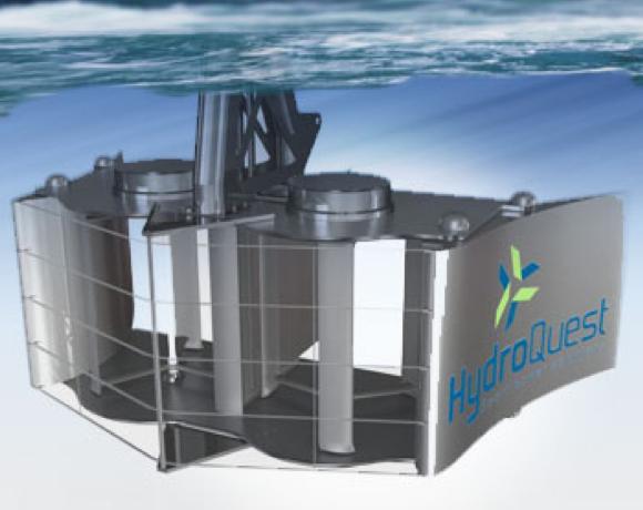 Die Hydroquest-Turbine.