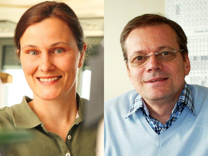Die Forscher der Stunde: Prof. Silke Bühler-Paschen und Prof. Andrey Prokofiev.