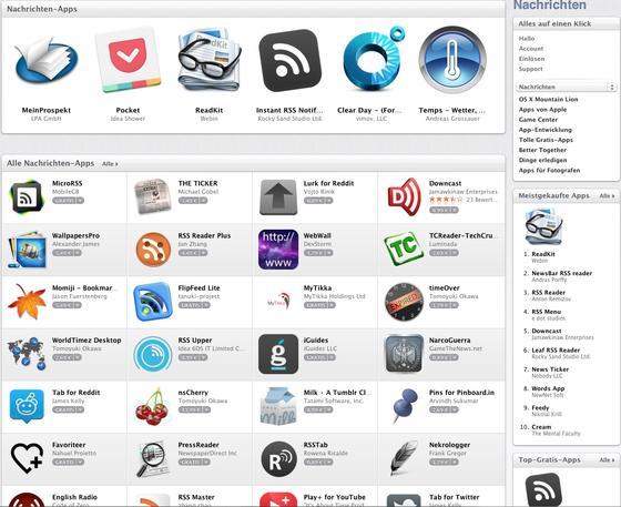 Steht kurz davor, die Zahl von einer Million Apps zu überspringen: App-Store von Apple.