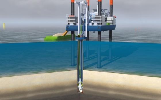 Bei der Errichtung der Fundamente für Offshore-Windenergieanlagen werden die Pfahlkonstruktionen zumeist noch in den Meeresgrund gerammt. Der Lärm stört die Meeressäuger. Doch es gibt lärmarme Alternativen.
