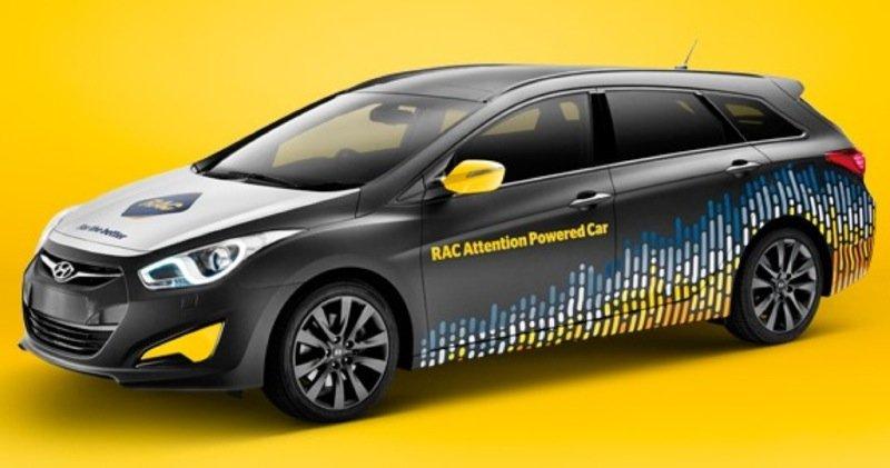 Das aufmerksamkeitsgesteuerte Auto, mit dem die Testfahrten unternommen werden.