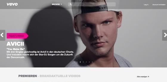 Der über Werbung finanzierte Musikdienst Vevo ist jetzt auch in Deutschland online. 75.000 Videos können kostenlos angeschaut werden.