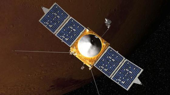 Die Raumsonde MAVEN soll die Mars-Atmosphäre untersuchen.