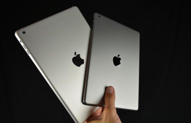 Hier sieht man das iPad 5 und das neue iPad mini in