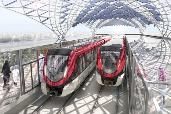 Für insgesamt 1,5 Milliarden Euro liefert Siemens für die Hauptstadt Riad eine schlüsselfertige Bahnanlage für zwei fahrerlose U-Bahnlinien.