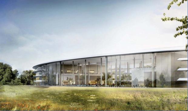Transparent: In Apples neue Konzernzentrale wird viel Glas eingebaut.