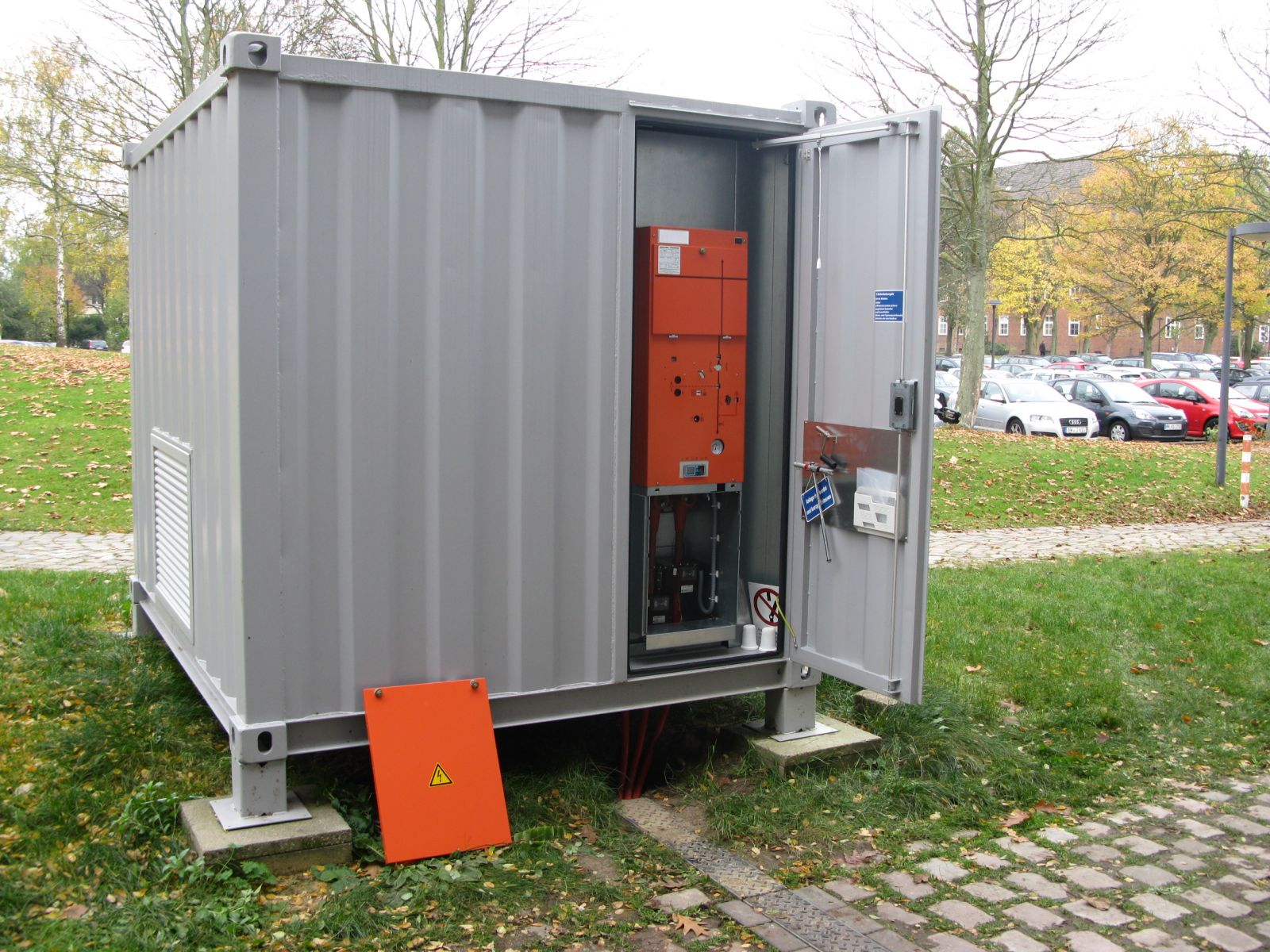 Bereits erfolgreich entwickelt: Container mit mobilem Messgerät für die Impedanzmessung in Mittelspannungsnetzen.
