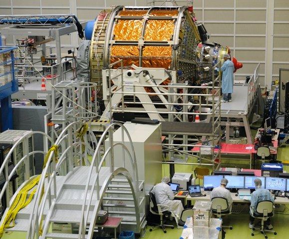 Bevor Albert Einstein seine Reise ins All antrat wurde der Raumtransporter bei Astrium in Bremen getestet.