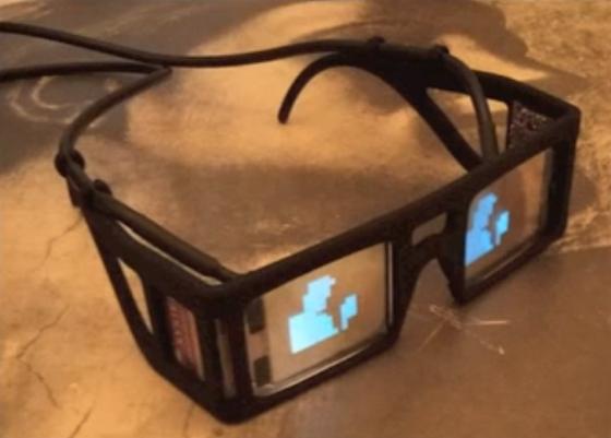 Der Prozessor der Kamerabrille verwandelt Umgebungsbilder in eine Serie von Lichtern. Dadurch sollen sich Sehbehinderte wieder besser orientieren können.
