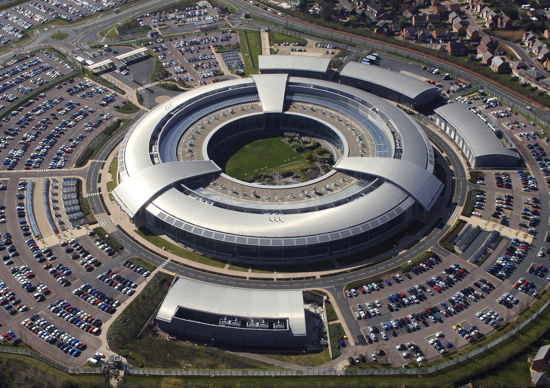 Die Luftaufnahme des britischen Verteidigungsministeriums zeigt die Zentrale des britischen Geheimdienstes British Government Communications Headquarters (GCHQ) in Cheltenham, Gloucestershire.