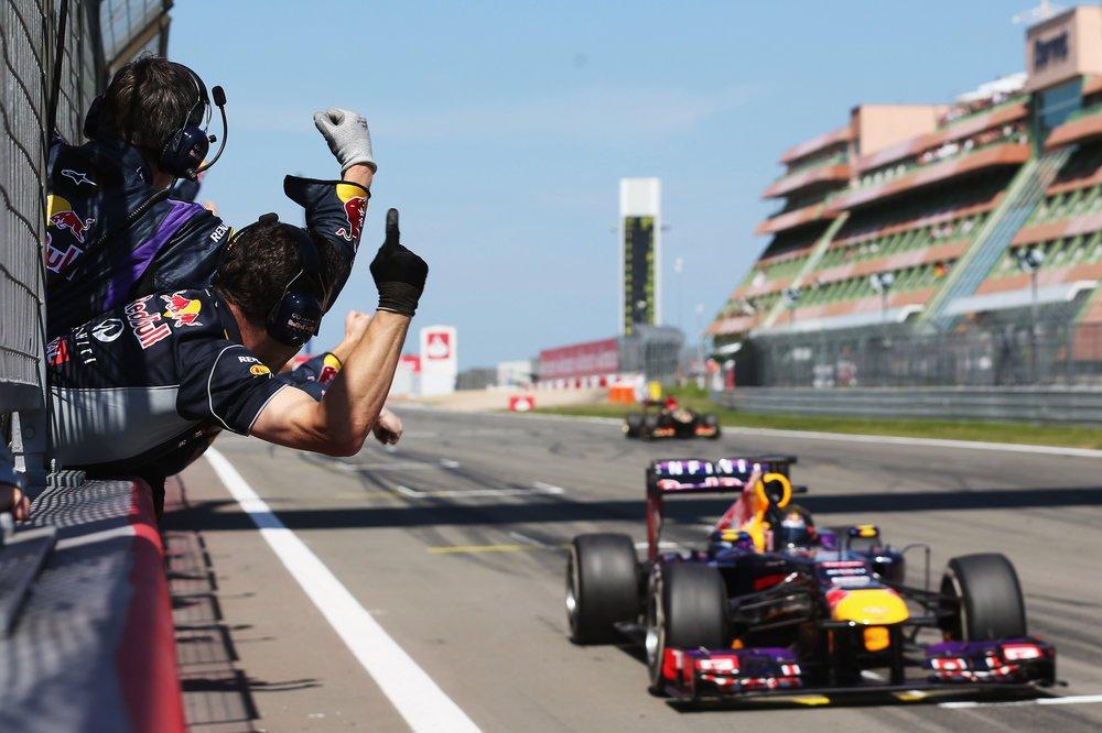 Weltmeister Sebastian Vettel siegte im Juli 2013 zum ersten Mal in seinem Heimrennen auf dem Nürburgring.