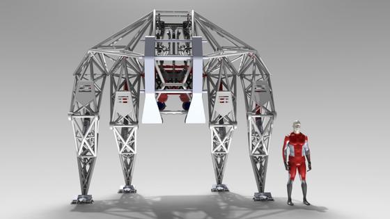 So soll das Gesamtkunstwerk Prosthesis einmal aussehen. Noch sammelt der KünstlerJonathan Tippett aber über Crowdfunding Geld für das Material ein, das er benötigt, um den riesigen Anti-Roboter weiter zu bauen.