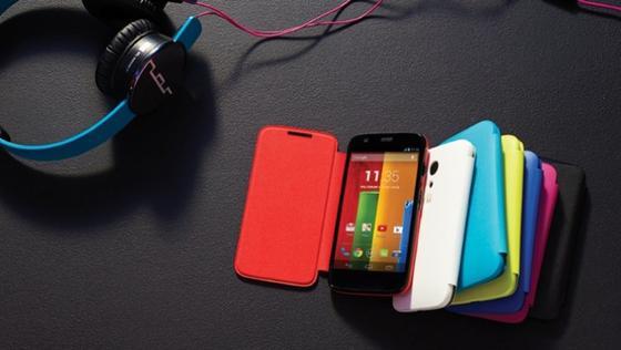 """Mit dem Smartphone """"Moto G"""" will Motorola an alte Erfolge anknüpfen."""