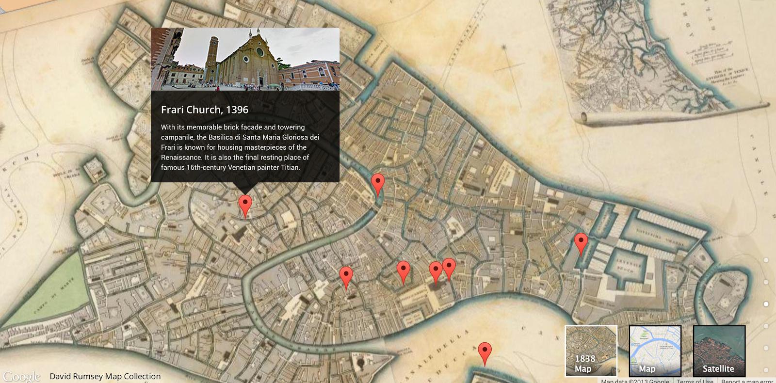 So sieht Venedig dann bei Google im Überblick aus. Schon viele Points-of-interest sind markiert, viele werden wohl schon bald folgen.