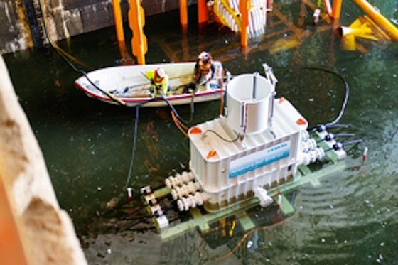 Den Flachwassertest hat der Transformator bereits absolviert. Demnächst stehen Test am Meeresboden auf dem Programm.