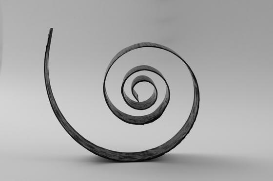 Eine filigrane Spiralfeder aus Karbonfaser ist extrem viel leichter, als ihr Gegenstück aus Stahl.