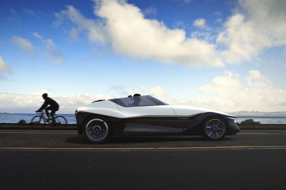 Ein Auto für die Superhelden der Zukunft: der Blade Glider, eine neue Studie von Nissan.