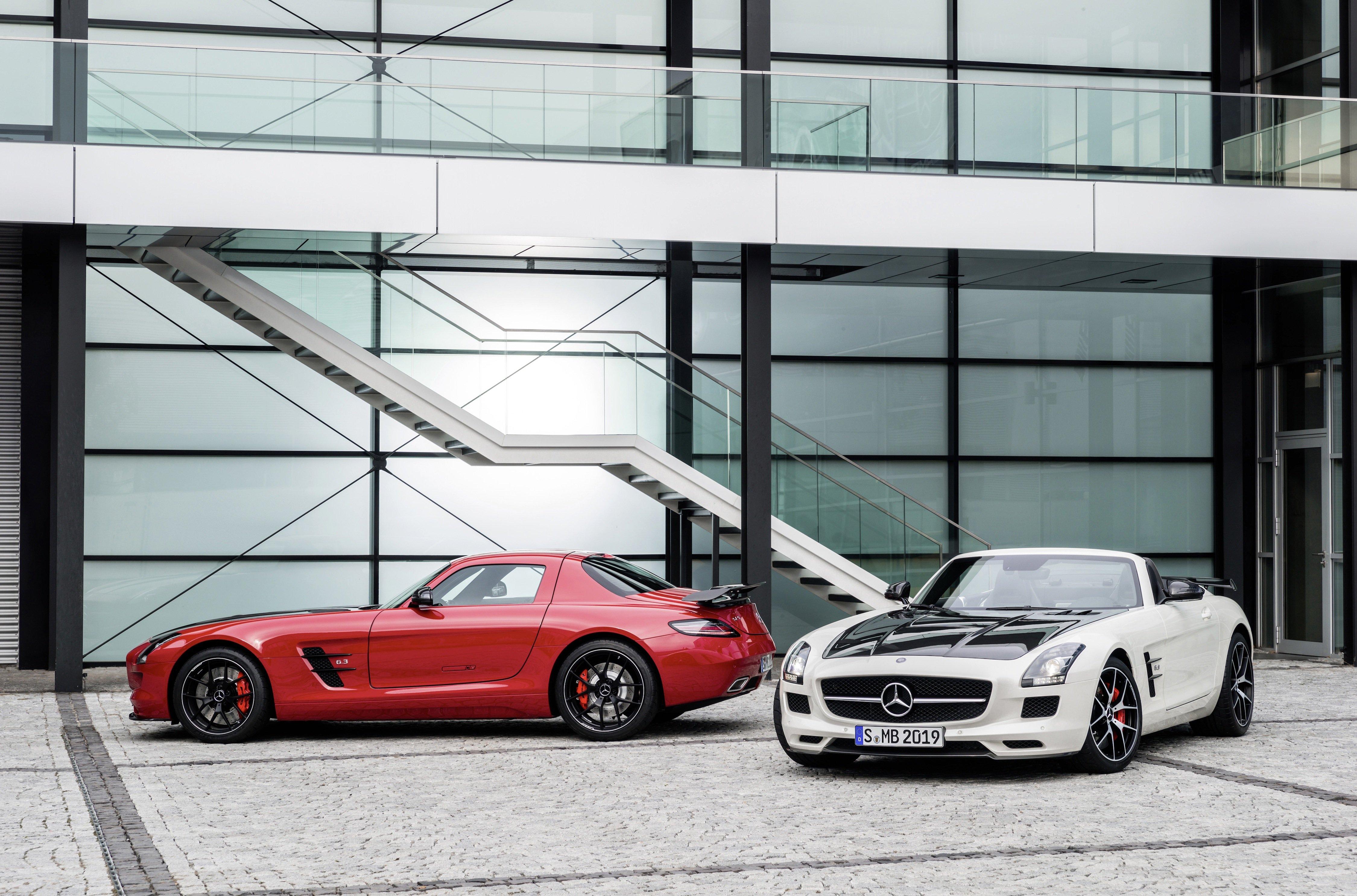 Supersportler in limitierter Auflage: Mercedes präsentiert denSLS AMG Final Edition in Tokio.