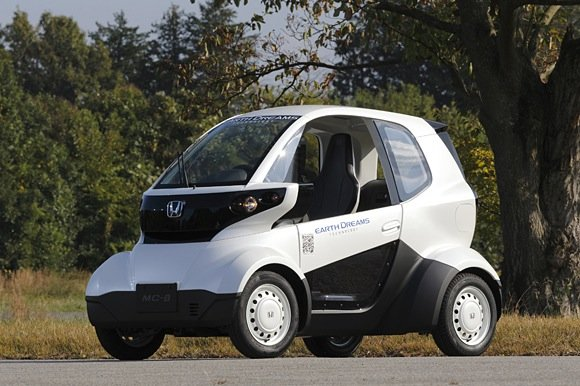 Kleiner als ein Smart, soll sich der Elektro-Honda MC-ß vor allem in asiatischen Großstädten durchwuseln können.