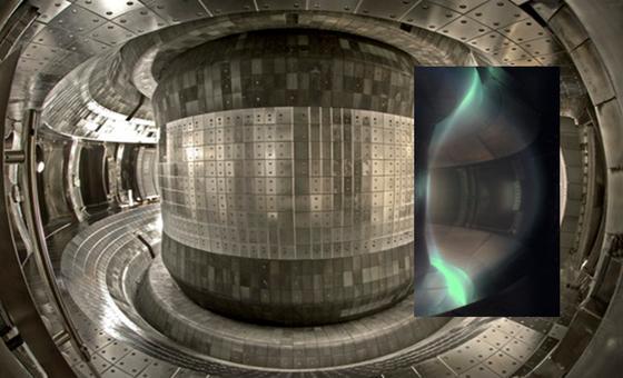 Blick in den chinesischen Tokamak-Fusionsreaktor EAST: Zum ersten Mal ist es Forschern gelungen, eine Fusionsreaktion 30 Sekunden lang zu erhalten.