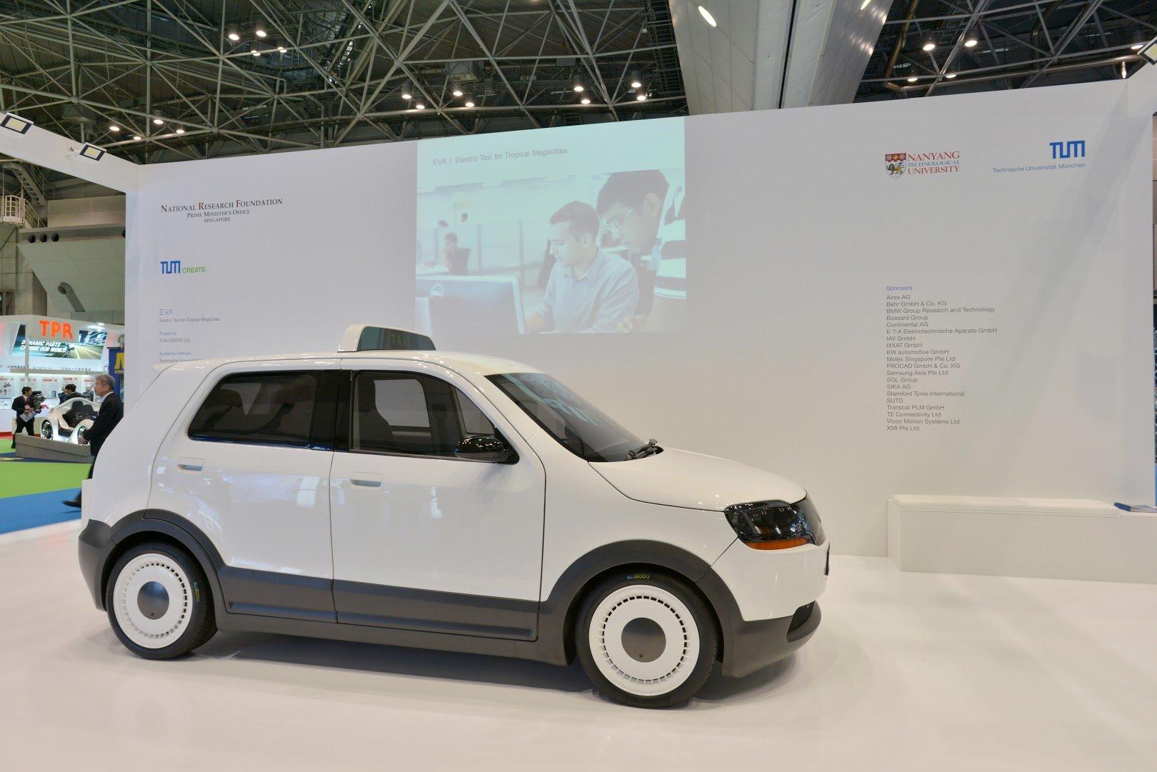 Das Elektrotaxi Eva wurde am Wochenende auf der Tokio Motor Show der Öffentlichkeit präsentiert.