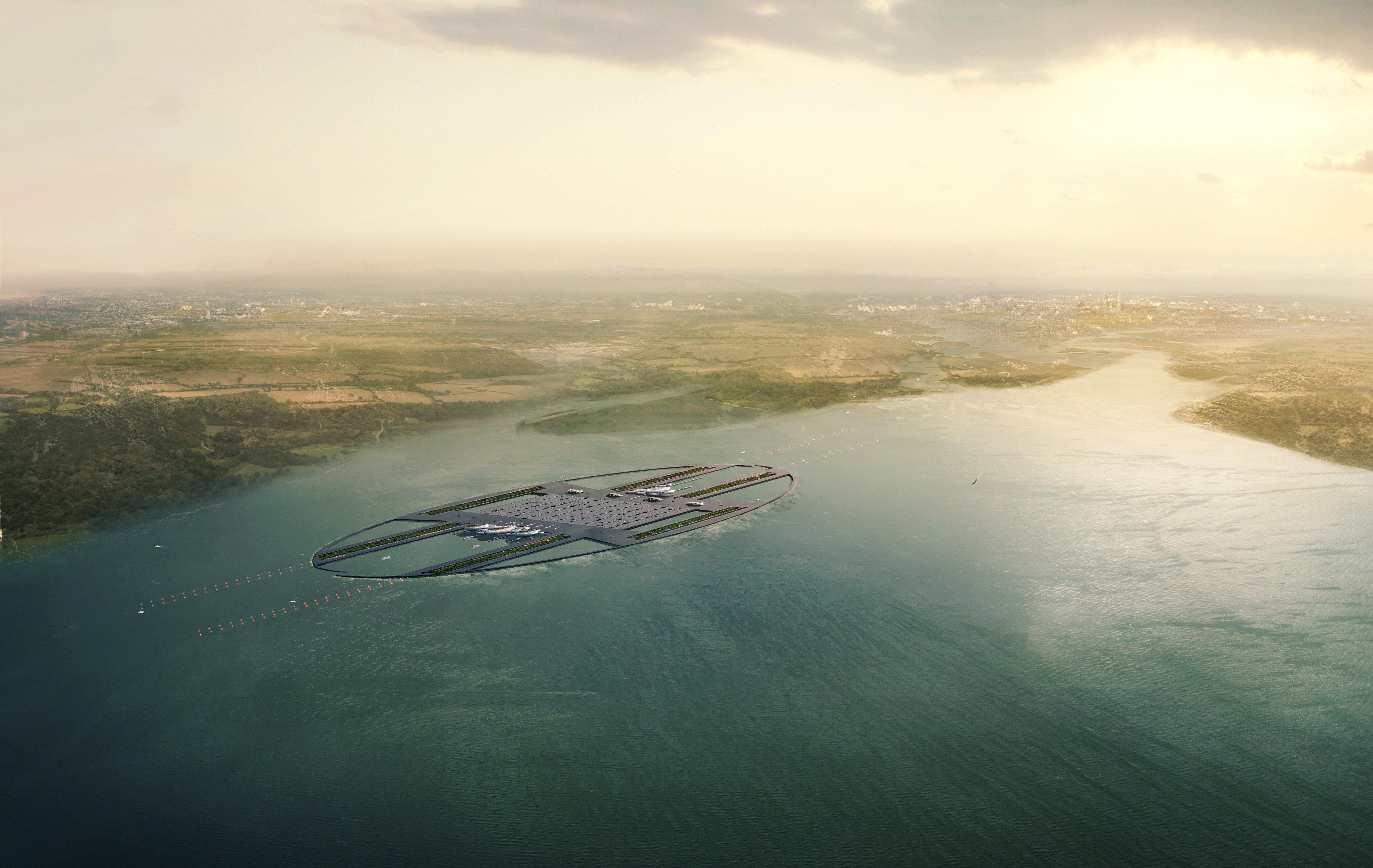 Der neue Großflughafen Britannia läge 80 Kilometer vom Londoner Zentrum entfernt. Er würde den Flughafen Heathrow ersetzen. Die Bauentscheidung soll 2015 fallen. Die Kosten wären mit geschätzten 56 Milliarden Euro gigantisch.