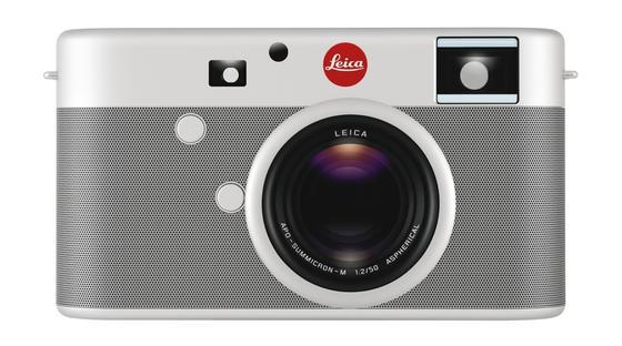 "Kommt in edler Aluminium-Optik daher, die Leica-M. Der rote Punkt ist dem ""Project Red"" geschuldet."""