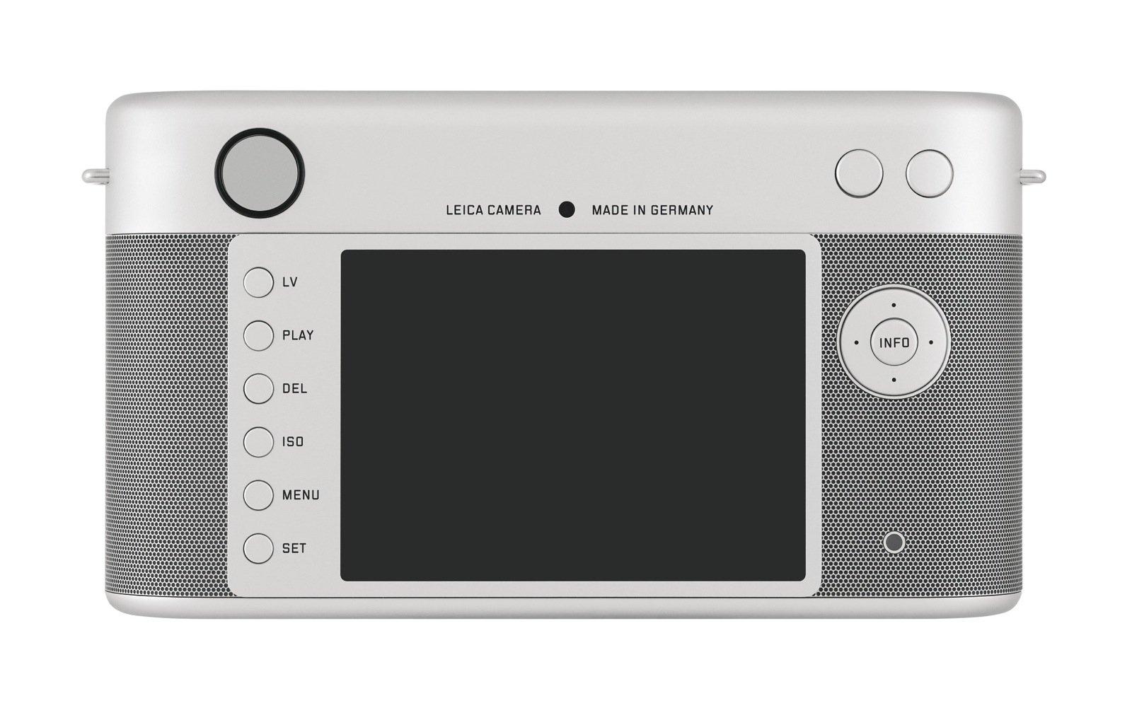 Von hinten unauffällig, die Leica-M. Der Monitor kann aber Full-HD-Video im Format 1080p anzeigen.