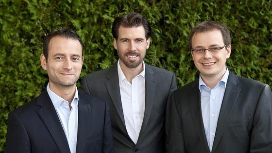 Gründerteam From AtoB (von links nach rechts): Johannes Graßmann, Veit Blumschein und Daniel Nolte