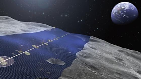 """Solarzellen auf dem Mond: Der """"Luna-Ring"""" soll Strom für alle Erdenbürger liefern."""